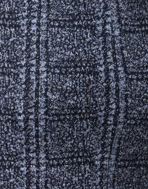 Amina Rubinacci - Door Navy and Blue Check Knit Jacket