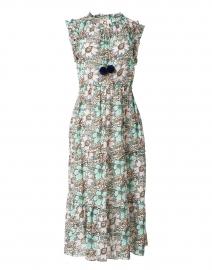 Clara Ivory Bloom Print Cotton Dress