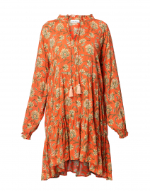 Janni Orange Vine Floral Dress