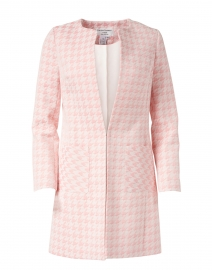 Alice Pink and White Tweed Long Coat