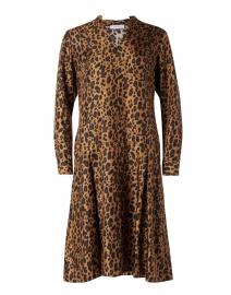 Brown Animal Print Silk Twill Dress