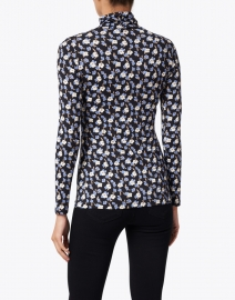 Rosso35 - Blue and White Floral Print Top