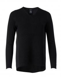 Black Ribbed Knit Top