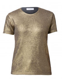 Gold Metallic Silk Wool Top