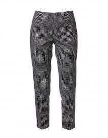 Monia Black and White Dot Print Stretch Cotton Pant