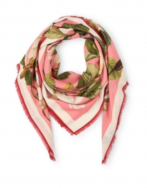 Oksana Deep Floral Wool and Cashmere Scarf
