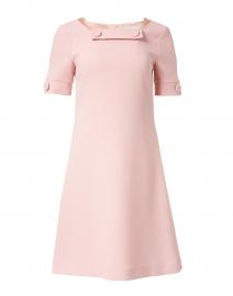 Muriel Rose Pink Wool Crepe Dress
