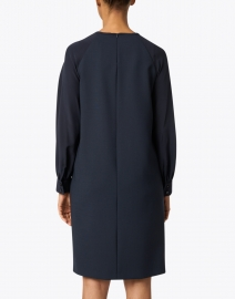 Max Mara Studio - Avenue Navy Stretch Wool and Silk Dress