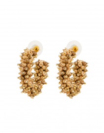 Taylor Brown and Gold Mini Hoop Earrings