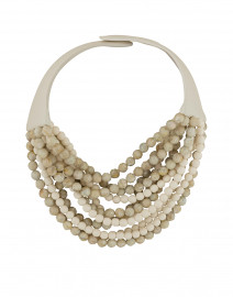 Aurora Marble and Oatmeal Ivory Necklace