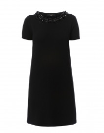 Black Wool and Cashmere Knit Dress