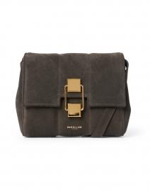 Mini Alexandria Espresso Suede Leather Crossbody Bag