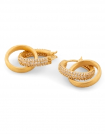 Dean Davidson - Gold Signature Pave Huggie Hoop Earrings