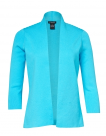 Caribbean Blue Stretch Cotton Cardigan