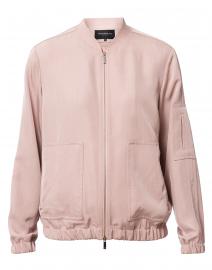 Ziggy Pink Canary Cloth Bomber Jacket