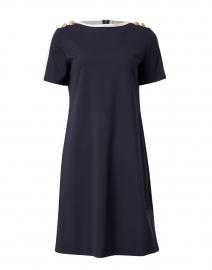 Dinala Navy with White Jersey Dress