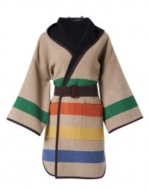 Linz Multi Striped Virgin Wool Coat