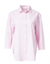 Halsey Pink and White Stripe Stretch Cotton Shirt