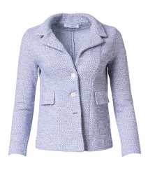 Essere Blue Cotton Knit Blazer Jacket