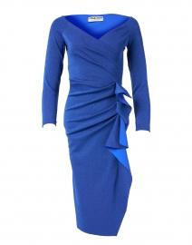 Silveria Cobalt Blue Lurex Stretch Dress