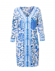 Bordertown Blue Hummingbird Jersey Dress