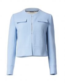 Kourtney Ice Blue Wool Crepe Jacket