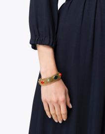 Gas Bijoux - Strada Green and Red Medium Bracelet