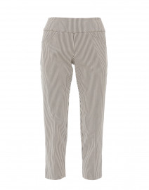 Harper Black and Ivory Striped Control Stretch Ankle Pant