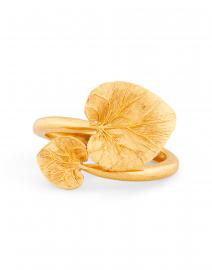 Gold Eucalyptus Leaf Bracelet