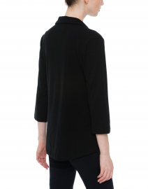 Southcott - Black Henley Bamboo-Cotton Top