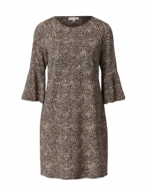 Shelby Camel Cheetah Ponte Dress