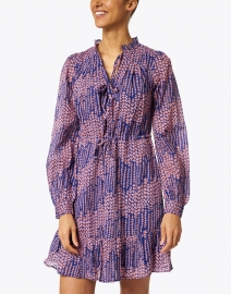 Banjanan - Clover Blue and Pink Floral Printed Dress