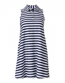 Harlee Navy and White Striped Dress