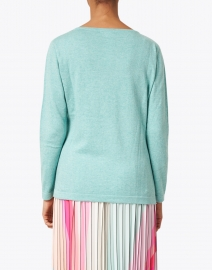 Blue - Seafoam Pima Cotton Boatneck Sweater