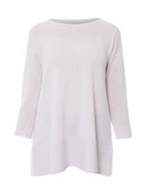 Saint Tropez Light Grey Cashmere Swing Sweater