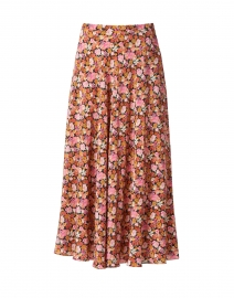 Essenza Multi Floral Print Silk Skirt