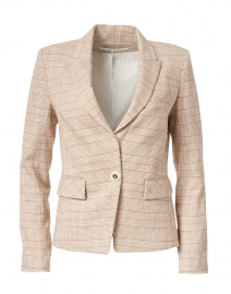 Louanne Khaki, Brown and Yellow Checked Cotton Jacket