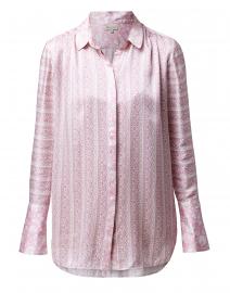Ira Heather Rose Printed Silk Blouse