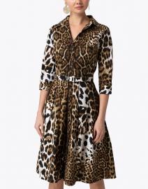 Samantha Sung - Audrey Leopard Stretch Cotton Dress