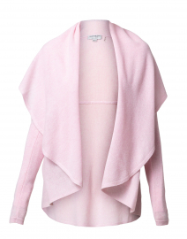 Pink Cashmere Circle Open Cardigan