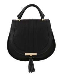 Mini Venice Black Pebbled Leather Cross-Body Bag