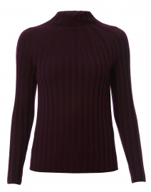 Wine Ribbed Sweater