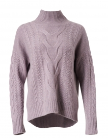 Opal Lavender Cashmere Cable Knit Sweater