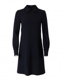 Marnie Dark Navy Wool Crepe Dress