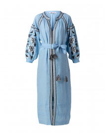 Becca Sky Blue Embroidered Maxi Dress