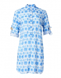 Day Tripper Periwinkle Diamond Print Shirt Dress