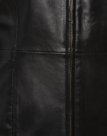 Ecru - Black Leather Jacket