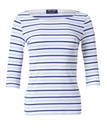 Garde Cote White and Gitane Blue Striped Jersey Top