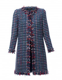 Blue and Red Tweed Coat