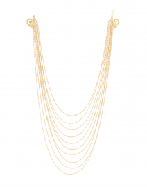 Romeo Gold Multi Strand Necklace
